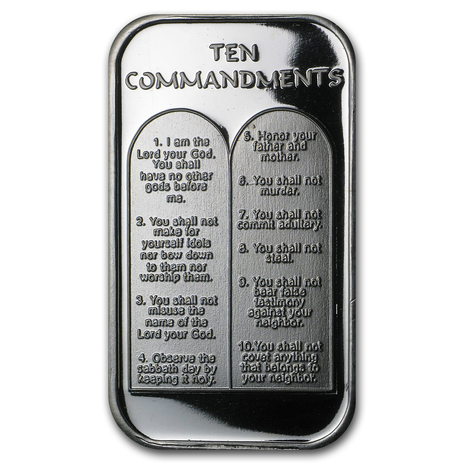1 oz Silver Bar - Ten Commandments (German)